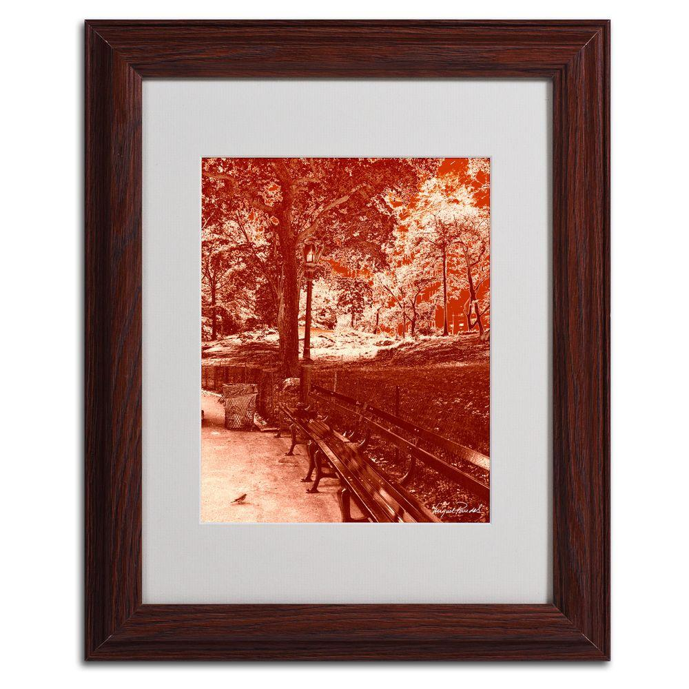 Trademark Fine Art 11 in. x 14 in. Red Forest Matted Framed Art