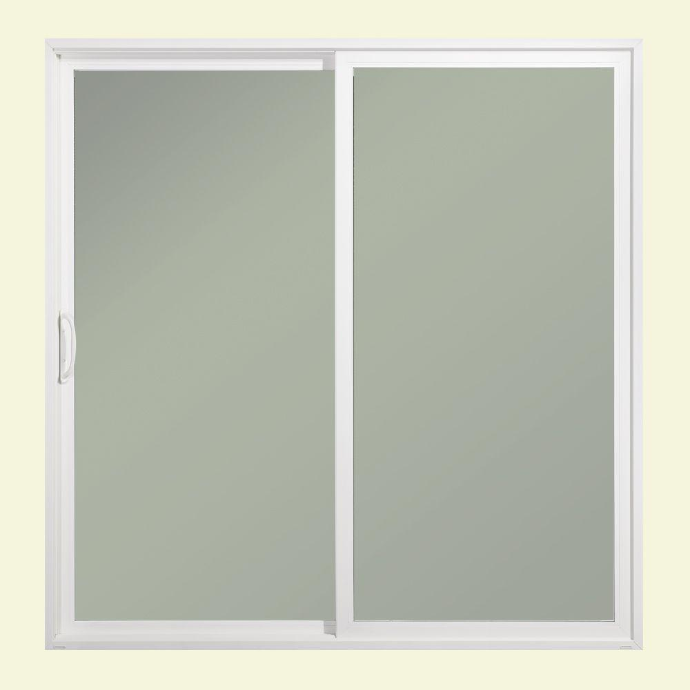 JELD WEN 72 In. X 80 In. Premium Atlantic White Painted Aluminum Left