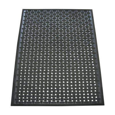 Kitchen Mat Black 3 ft. x 5 ft. Nitrile Rubber Commercial Mat