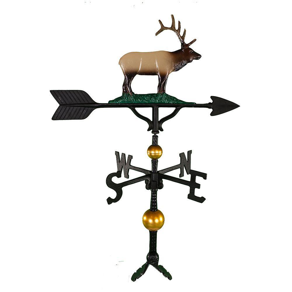 Montague Metal Products 32 in. Deluxe Black Elk Weathervane