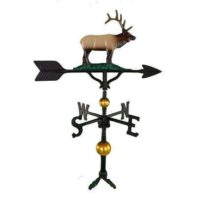 32 in. Deluxe Black Elk Weathervane