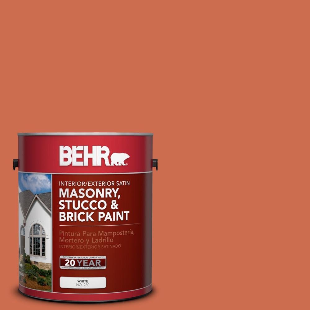 1 gal. #M180-6 Tiki Torch Satin Interior/Exterior Masonry, Stucco and Brick Paint