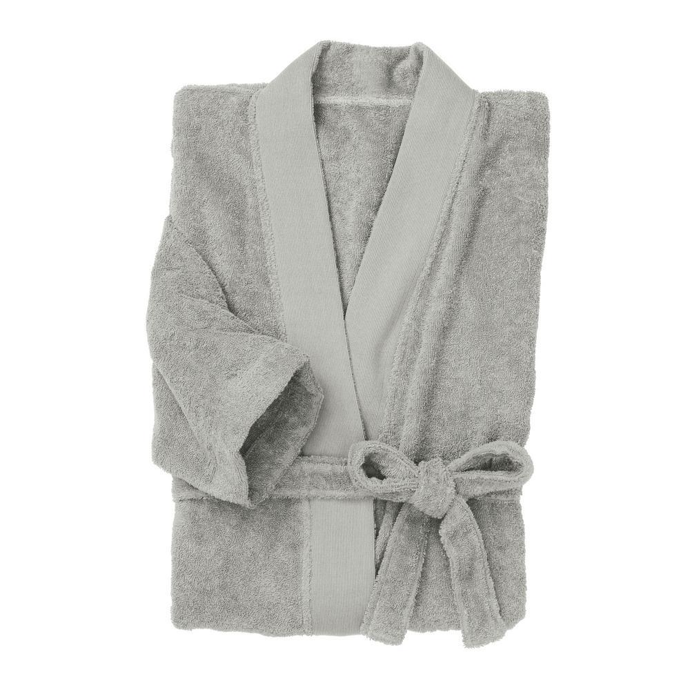 Organic Terry Cotton Large Extra Large Glacier Gray Bath Robe 32bb376b3