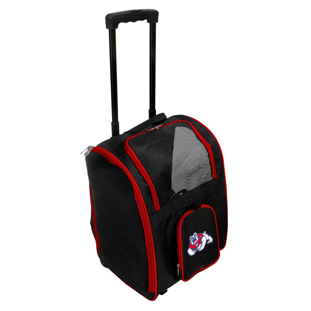 NCAA Fresno State Bulldogs Pet Carrier Premium Bag with wheels in