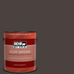Behr Ultra 1 Gal Ppu5 20 Sweet Molasses Extra Durable Flat Interior Paint Primer 172301 The Home Depot