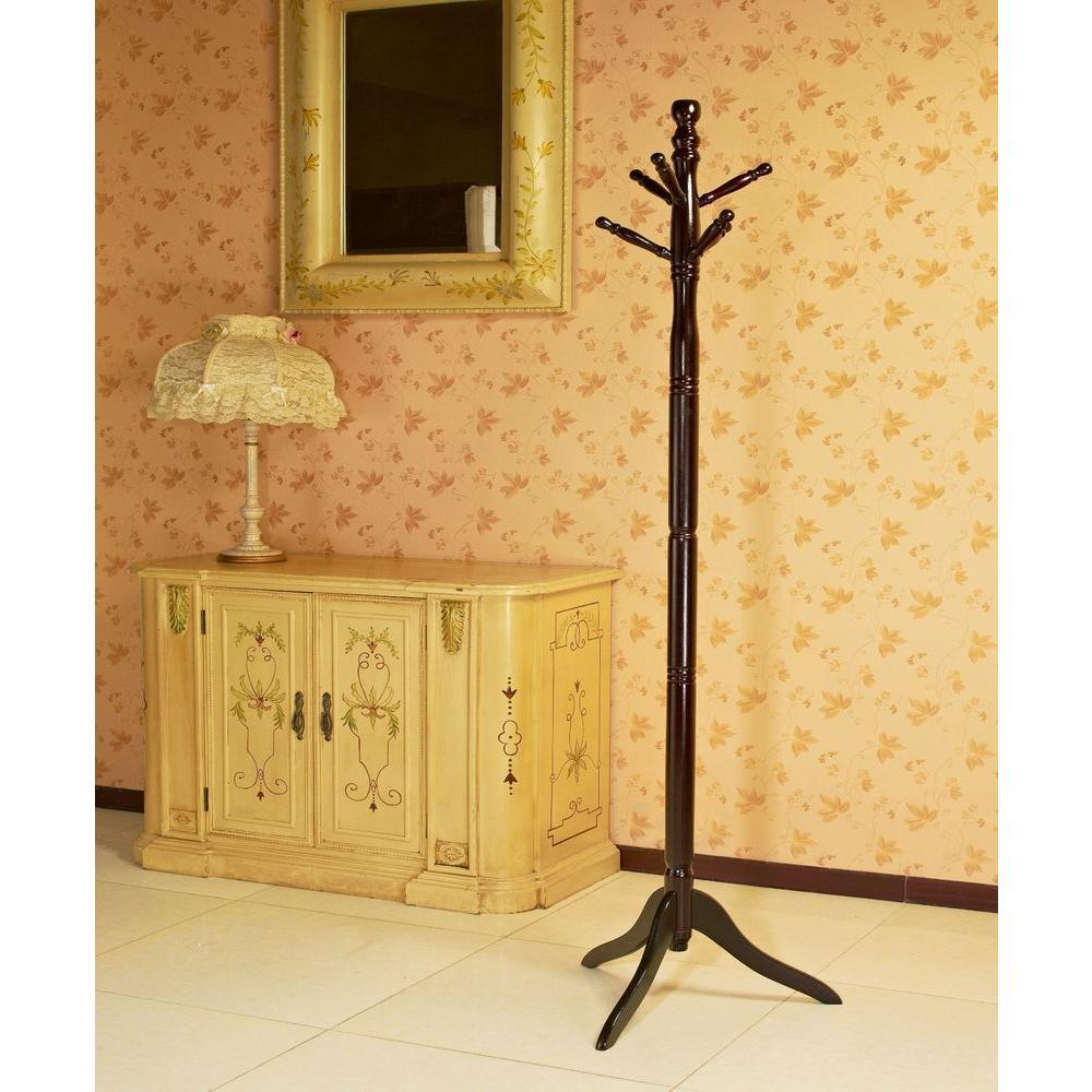 Homecraft Furniture Cherry 6-Hook Coat Rack JW102-C