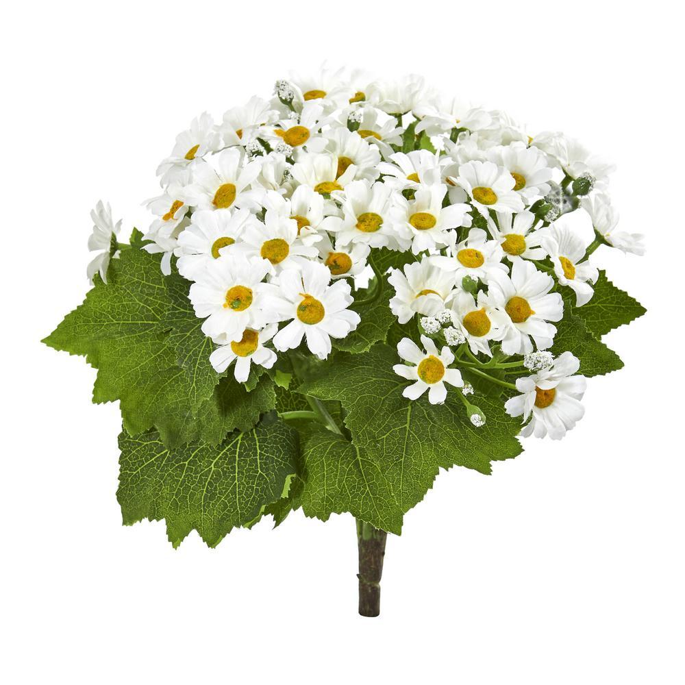 Indoor Daisy Bush Artificial Flower (Set of 6)