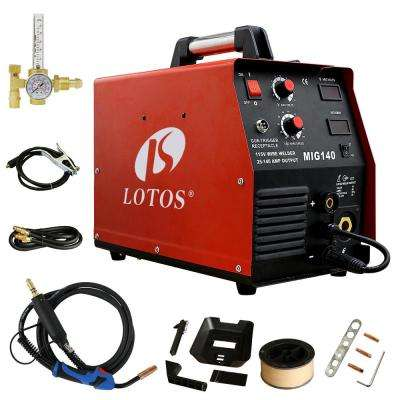 140 Amp MIG Wire Feed Welder, Flux Core Welder and Aluminum Welding with 2T/4T Switch (Spool Gun sold separately), 110V