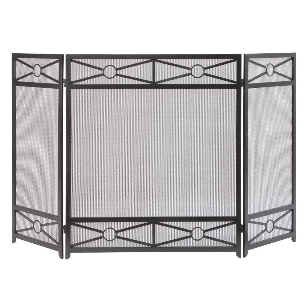 Brilliant Pleasant Hearth Sheffield 3 Panel Fireplace Screen In Vintage Iron Beutiful Home Inspiration Ommitmahrainfo
