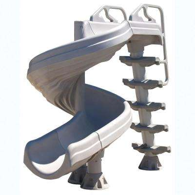G-Force 2 Gray 360° Complete Pool Slide