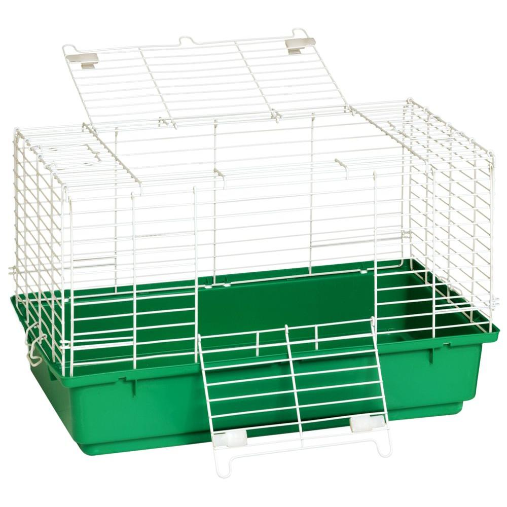 Miller 24.5 in. Wire with Plastic Tray Rabbit Cage