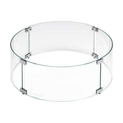 Tempered Glass Flame Guard for 19 in. Round Drop-in Fire Pit Pan