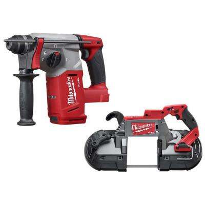 M18 FUEL 18-Volt Lithium-Ion Brushless Cordless 1 in. SDS-Plus Rotary Hammer and Bandsaw (2-Tool)