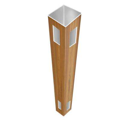 5 in. x 5 in. x 9 ft. Cypress Vinyl Fence Corner Post