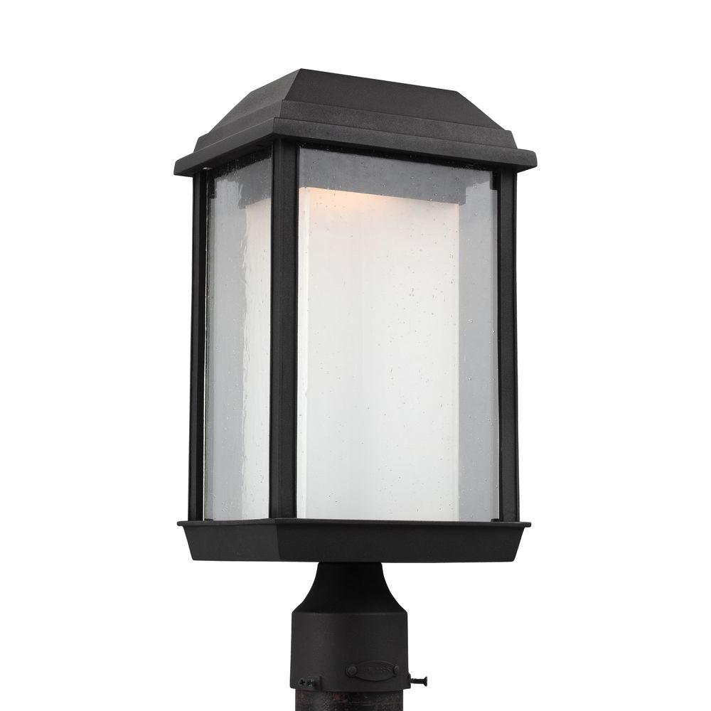 McHenry Textured Black Outdoor 16.625 in. LED Wall Fixture