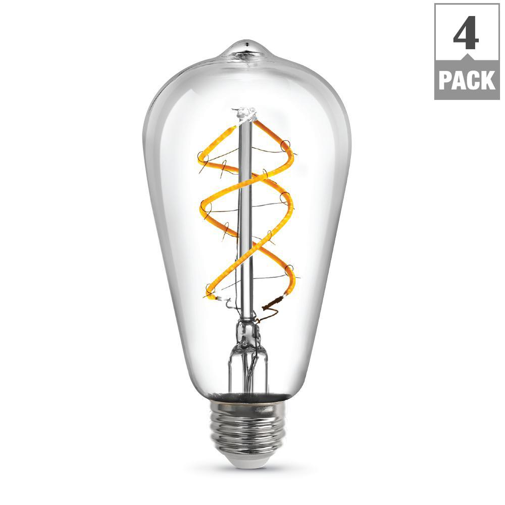 Feit Electric 40w Equivalent Daylight G25 Dimmable Clear: Feit Electric 60W Equivalent Soft White (2700K) G25