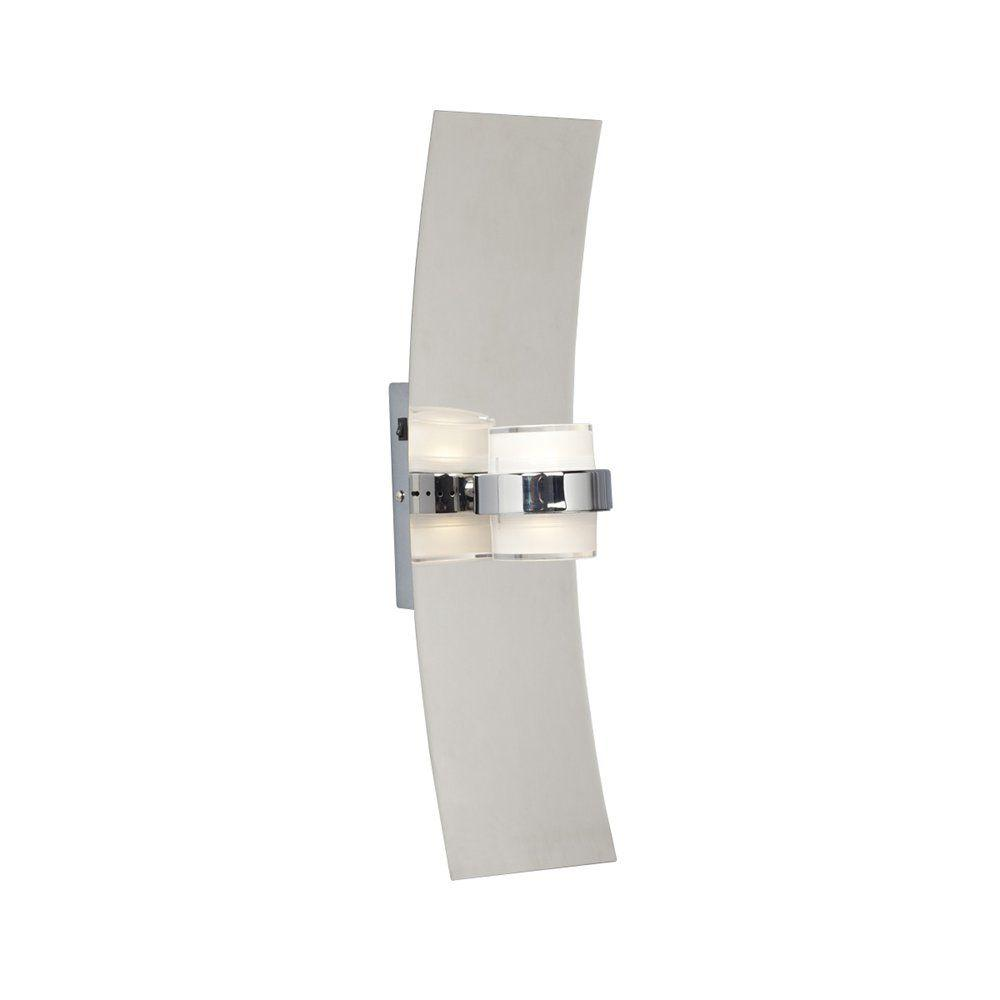 Annette 2-Light Dimmable Chrome LED Wall Sconce
