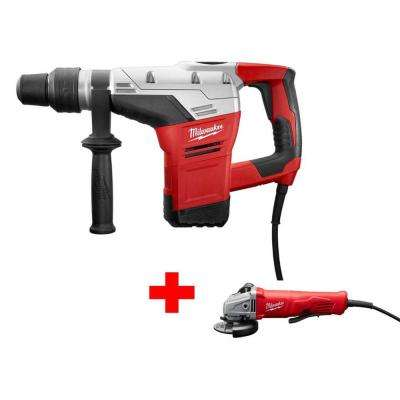 1-9/16 in. SDS-Max Rotary Hammer with Free 11 AMP 4-1/2 in. Angle Grinder