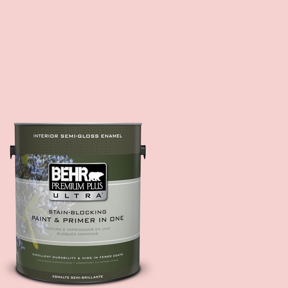 BEHR Premium Plus Ultra 1-gal. #P170-1 Youth Blush Semi-Gloss Enamel Interior Paint