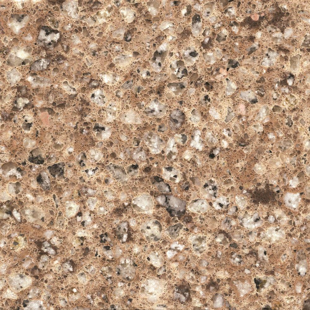 2 in. x 4 in. Quartz Countertop Sample in Kona Beige