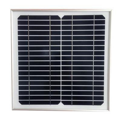 10-Watt Monocrystalline Solar Panel for 12-Volt Battery Charging