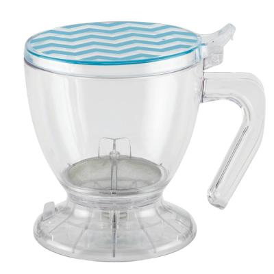 Coffee and Tea BPA-Free Plastic Smart Brewer, 19.5-Ounce, Blue Chevron