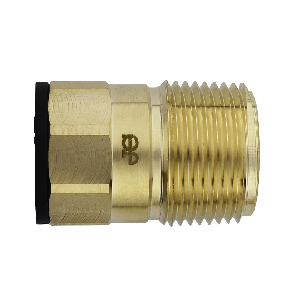 3/4 in. CTS x 1 in. NPT Brass ProLock Push-to-Connect Male