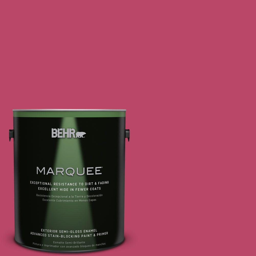1-gal. #S-G-110 Orchid Rose Semi-Gloss Enamel Exterior Paint