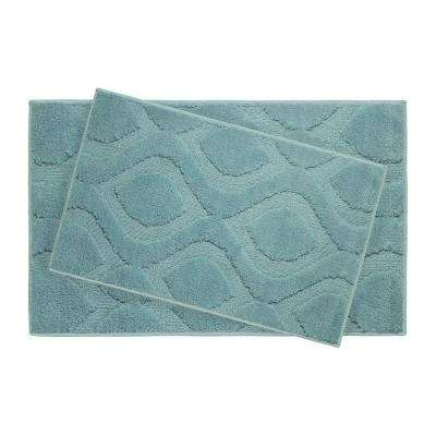 Mia Arctic Blue 21 in. x 34 in. 2-Piece Bath Mat Set