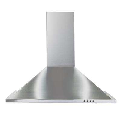30 in. Trapezoid Design Wall Hood Stainless Steel with 600 CFM Blower Downdraft