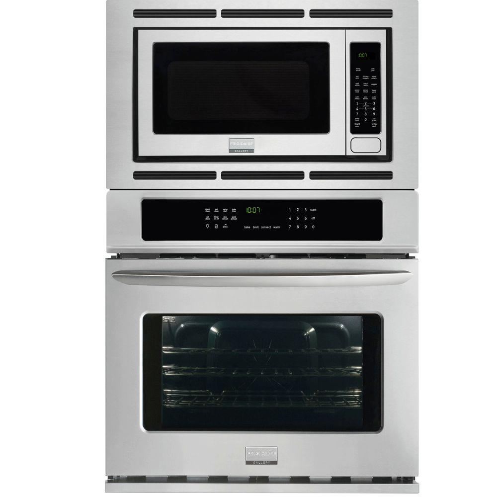 Frigidaire Gallery 27 in. Electric Convection Wall Oven with Built-In Microwave in Stainless Steel