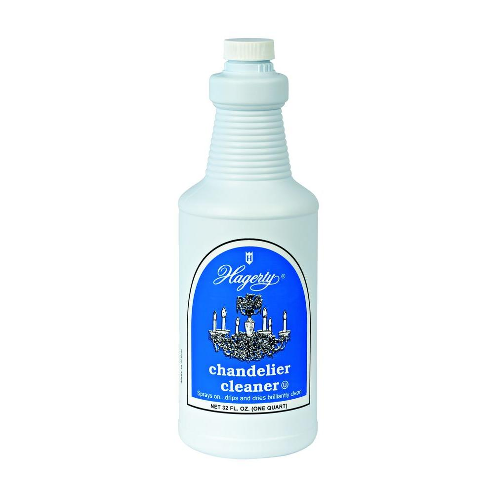 Hagerty Chandelier Cleaner Refill Pamper your chandeliers and other crystal valuables with Hagerty Chandelier Cleaner. Eliminate the drudgery of time-consuming hand cleaning. Simply cover the floor underneath and spray on your chandelier or crystal. The dirt and grime will conveniently trickle off leaving your crystals and fixtures immaculate and sparkling.