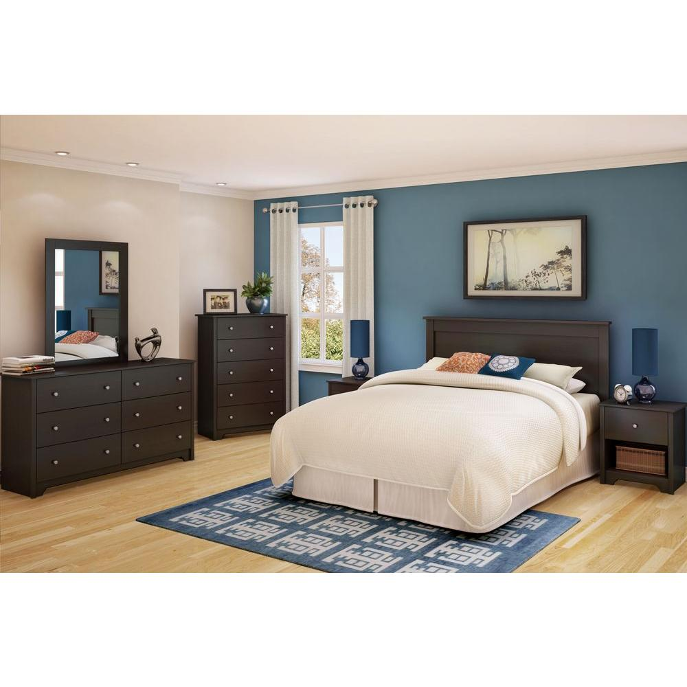 South Shore Vito Full/Queen-Size Headboard in Chocolate