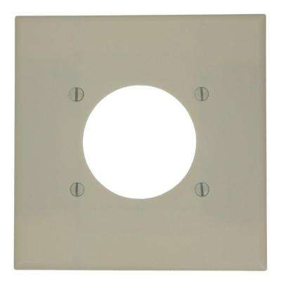 Flush Mount 2-Gang Wall Plate in Ivory