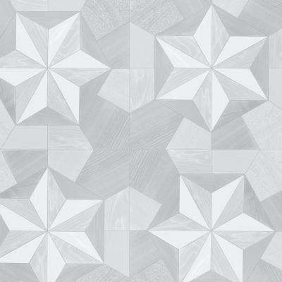 Shades of Grey Inlay Wood Wallpaper