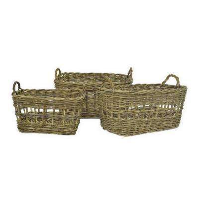 Brown Woven Baskets (Set of 3)