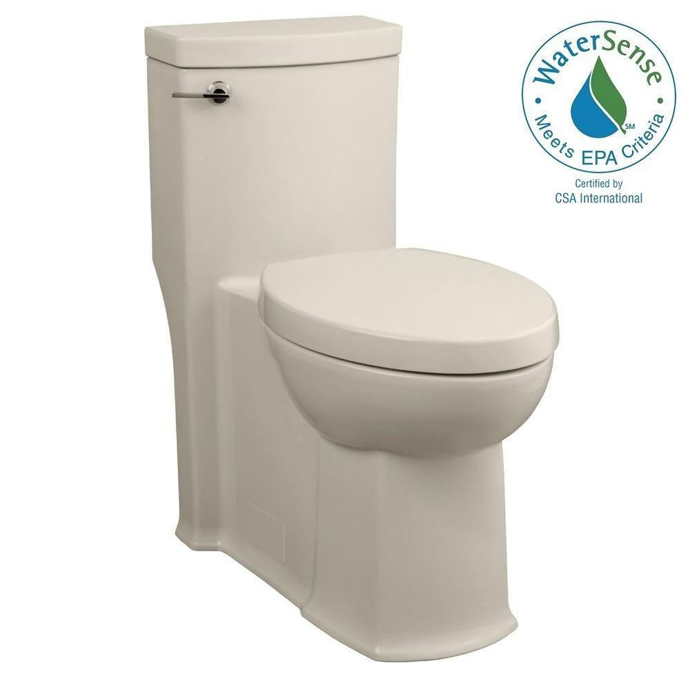 American Standard Boulevard 1-piece 1.28 GPF Right-Height Single Flush Elongated Toilet in Linen