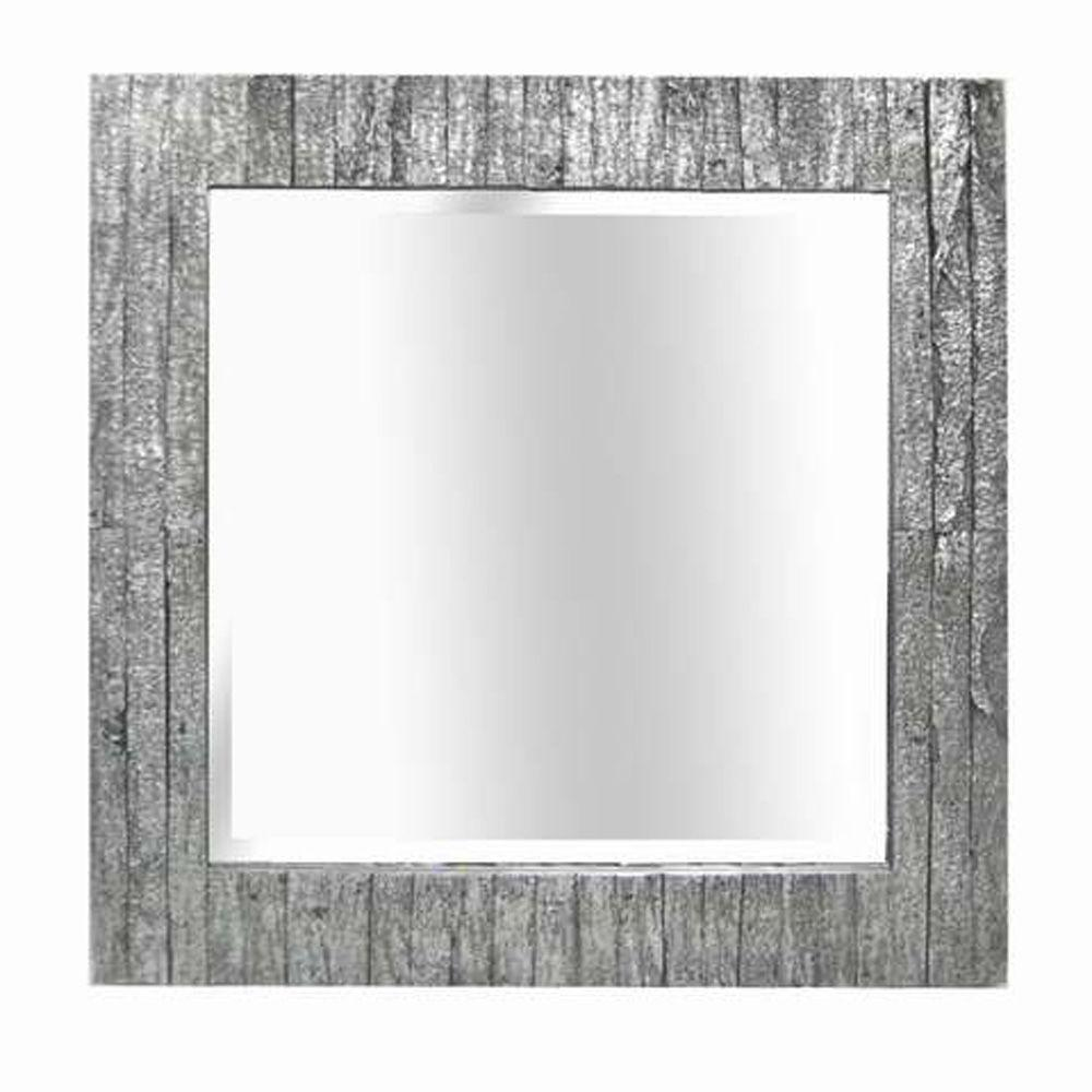 MCS 31.5 in. x 31.5 in. Wood Grain Square Framed Mirror
