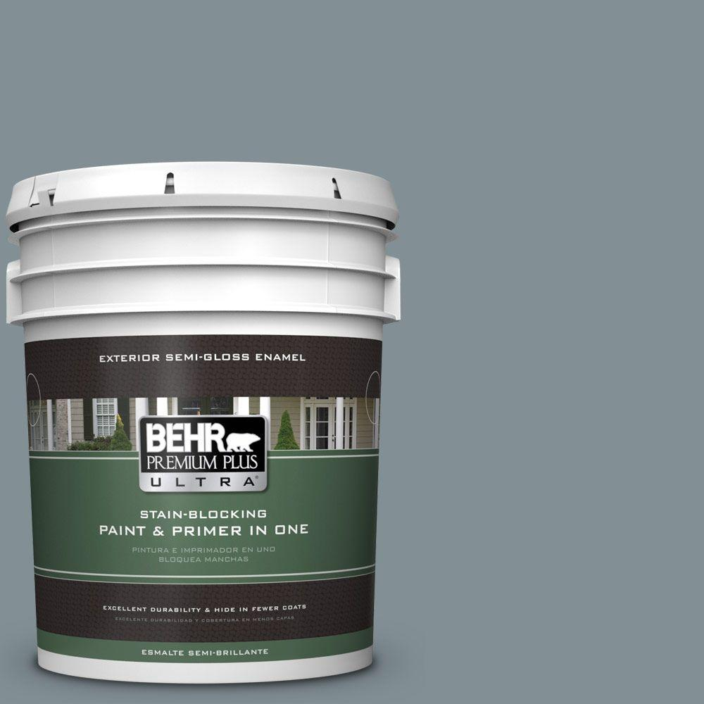 5-gal. #740F-4 Dark Storm Cloud Semi-Gloss Enamel Exterior Paint