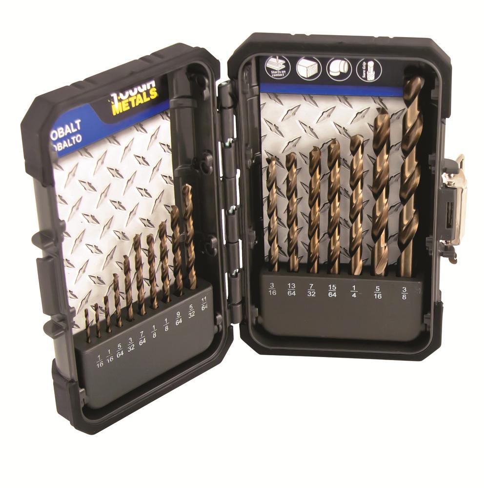 Cobalt drill bits power tool accessories the home depot industrial m35 hss cobalt drill bit set keyboard keysfo Images