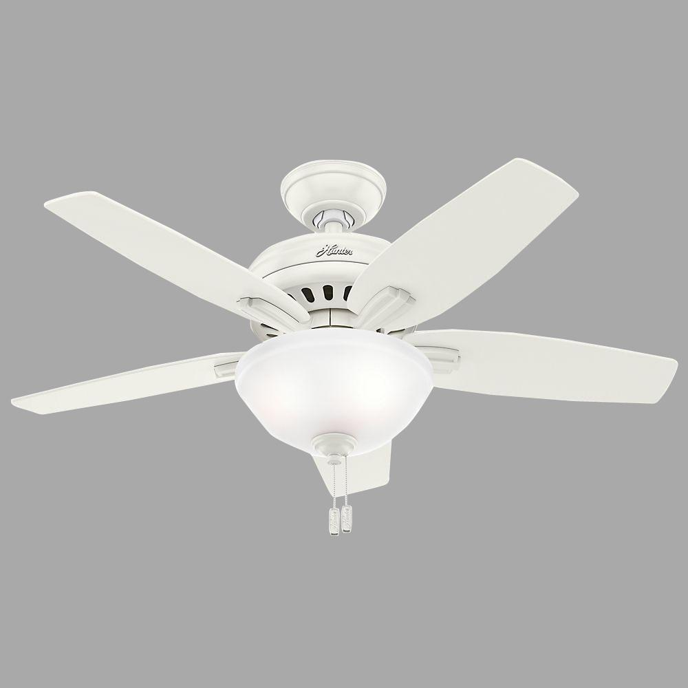 Indoor Fresh White Ceiling Fan With Light Kit