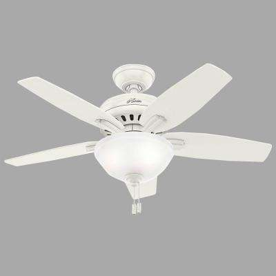 Newsome 42 in. Indoor Fresh White Ceiling Fan with Light Kit