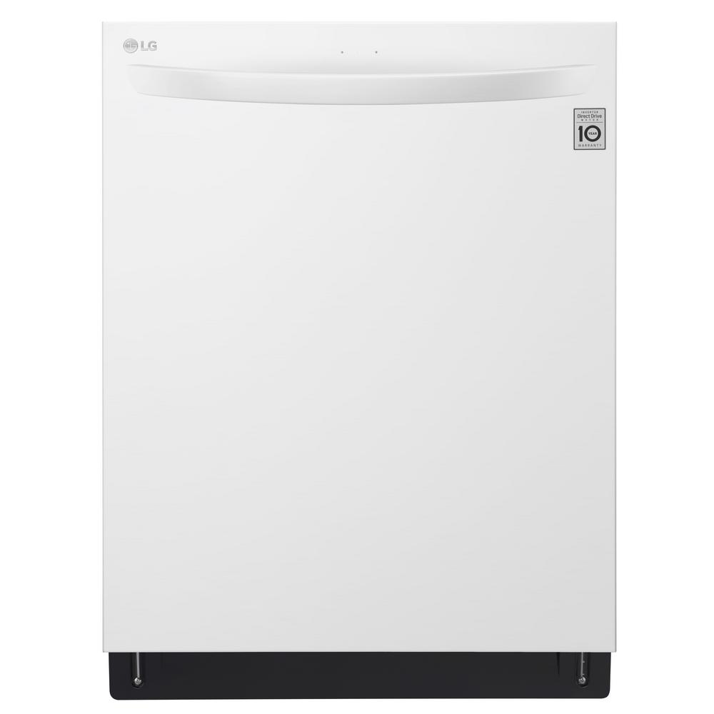 Top Control Tall Tub Dishwasher in White with Stainless Steel Tub