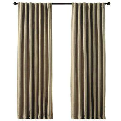 Taupe Room Darkening Back Tab Curtain