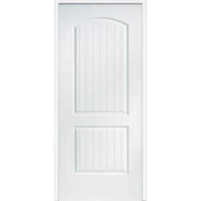 33.5 in. x 81.75 in. Primed Composite Santa Fe Smooth Surface Solid Core 20 Min. Fire Rated Interior Garage Door