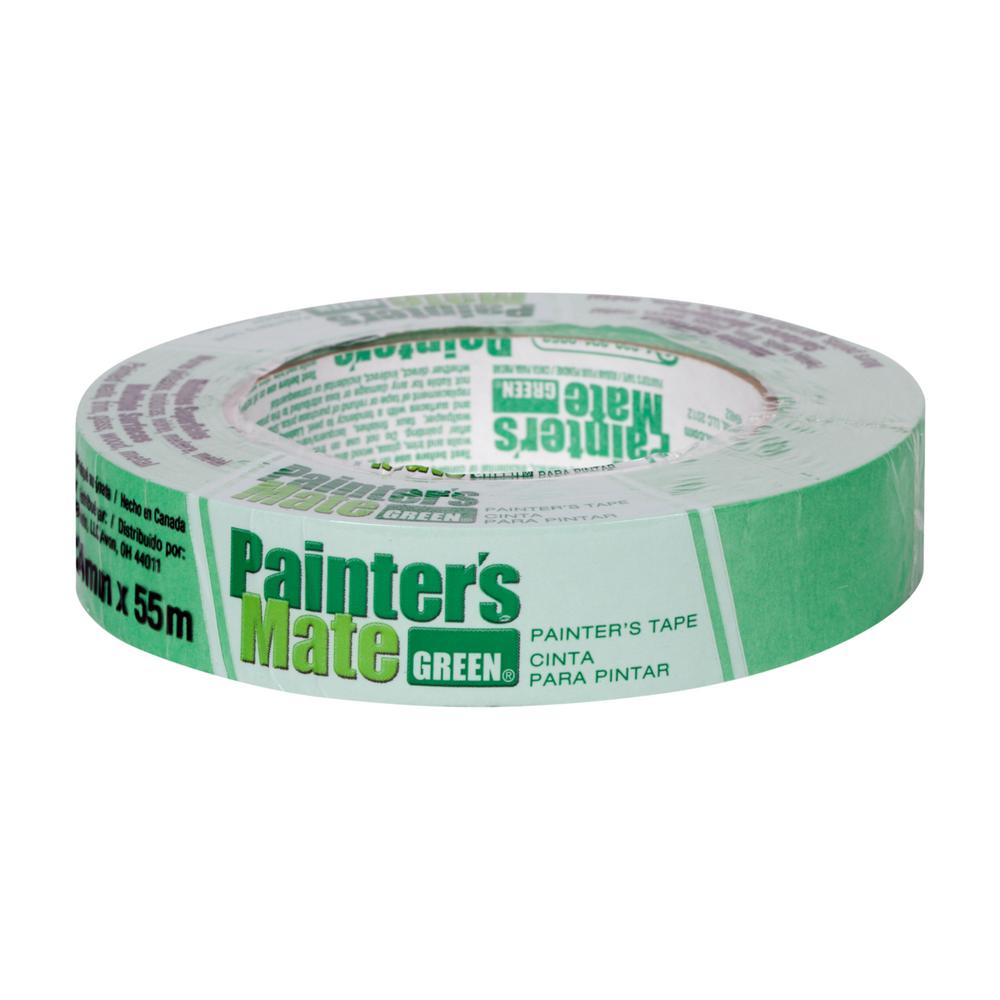 Painter's Mate Green 0.94 in. x 60 yds. Masking Tape (24-Pack)