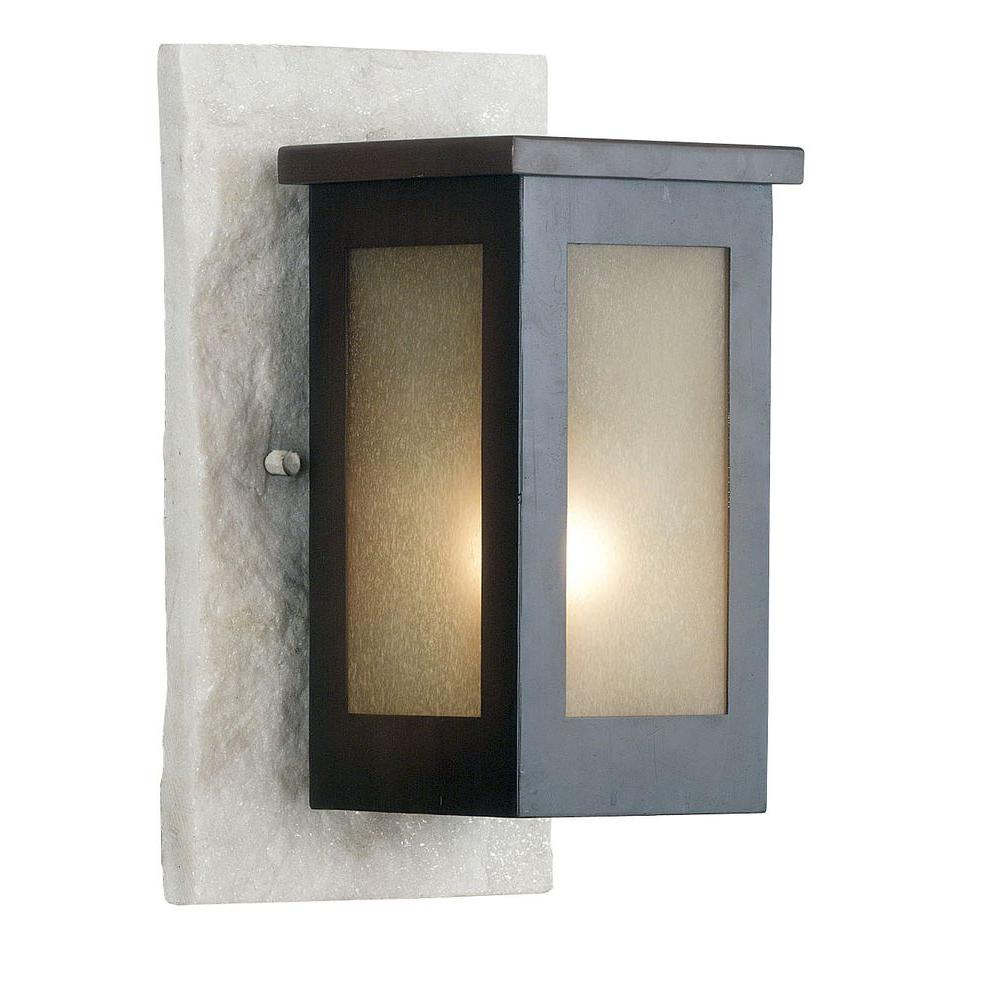 Kenroy Home Icefield 1-Light 12 in. Cream Slate Wall Lantern-DISCONTINUED