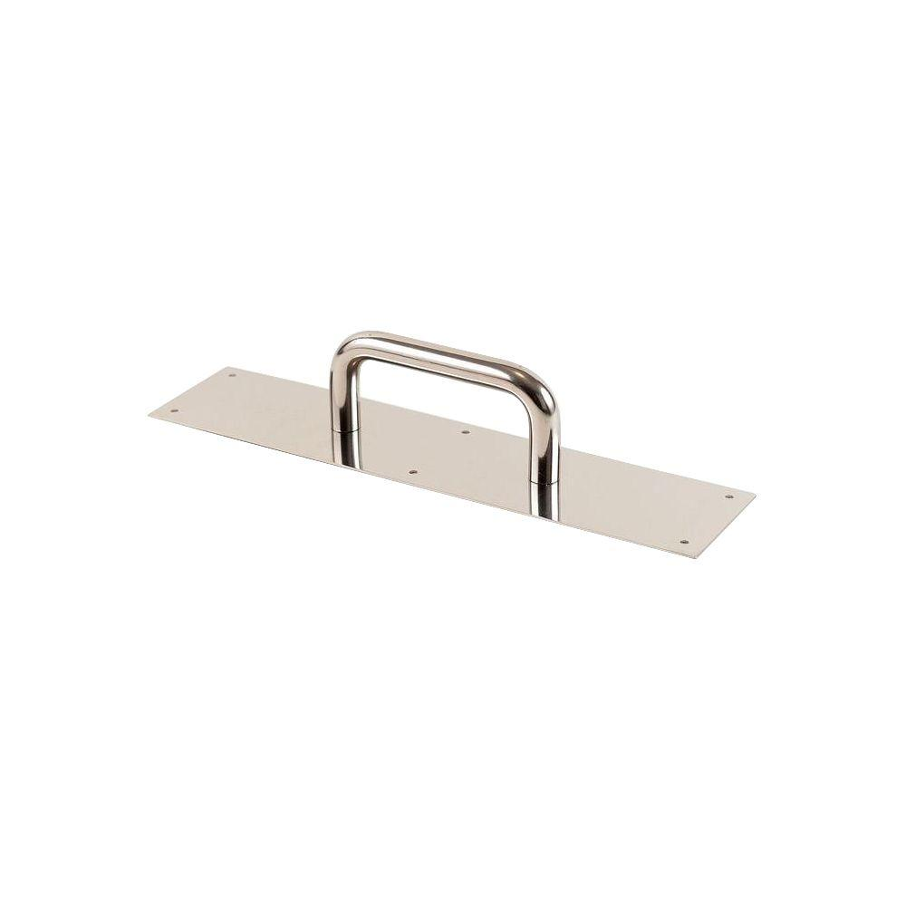 3.5 in. x 15 in. Polished Copper Nickel Antimicrobial Pull Plate