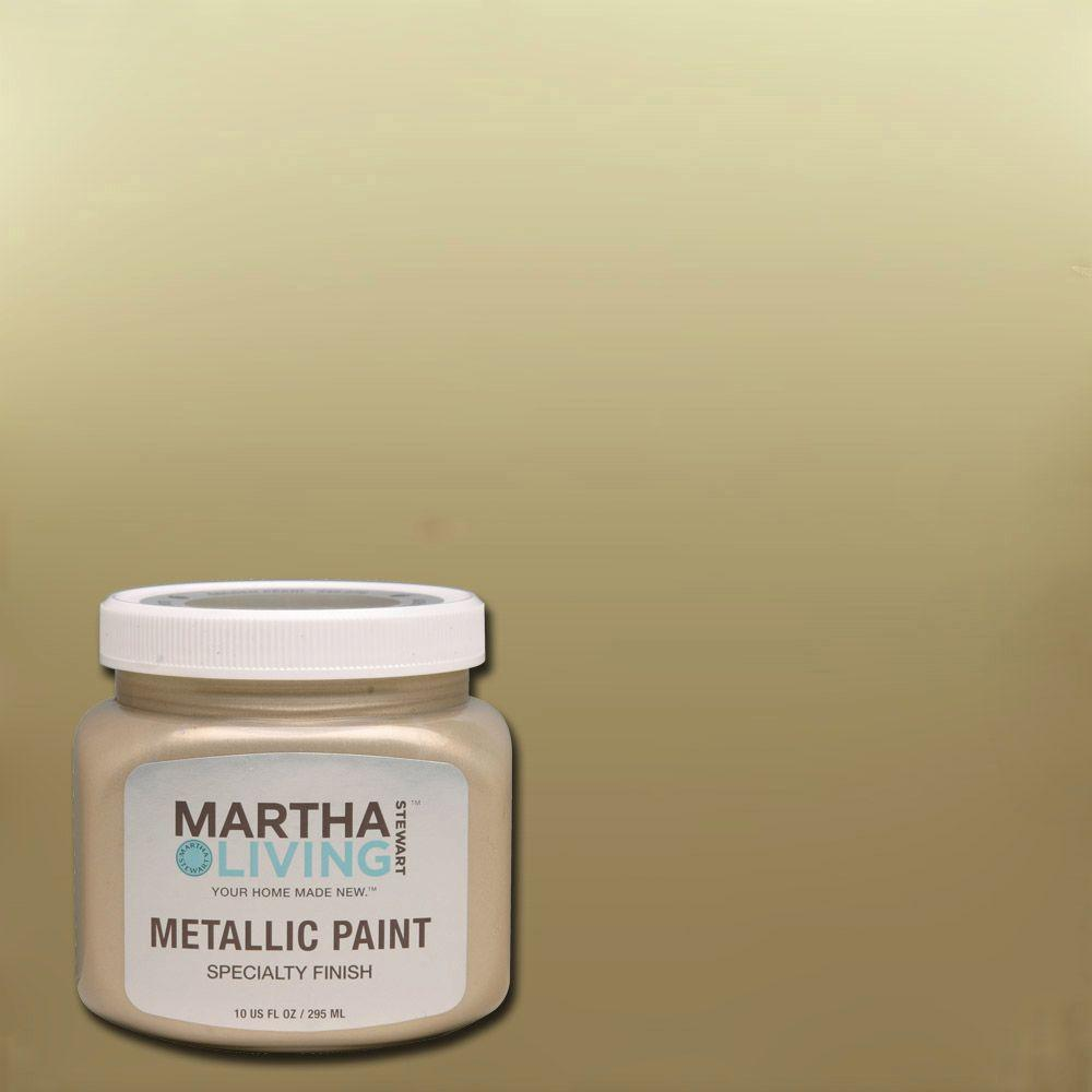 Martha Stewart Living 10 Oz. Golden Pearl Metallic Paint 259286   The Home  Depot