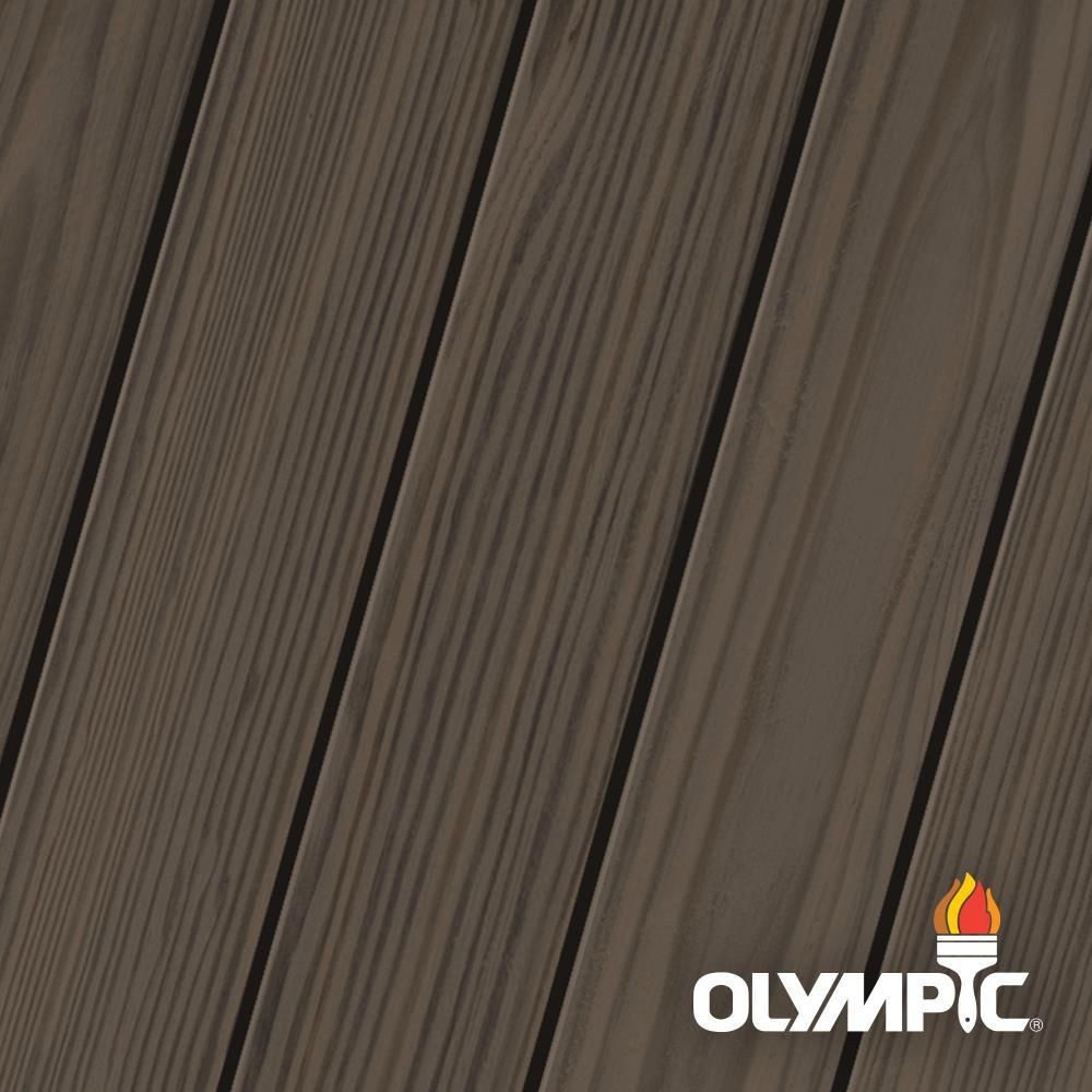 Olympic Elite 8 oz. Wenge Semi-Solid Exterior Wood Stain and Sealant in One Low VOC